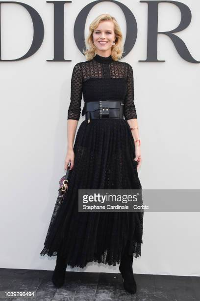 Eva Herzigova attends the Christian Dior show as part of the Paris Fashion Week Womenswear Spring/Summer 2019 on September 24 2018 in Paris France
