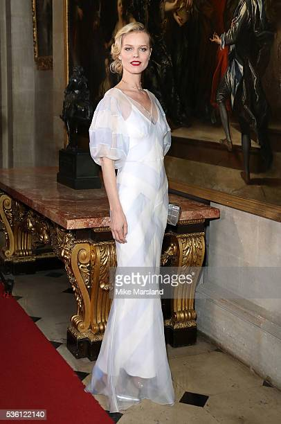 Eva Herzigova attends the Christian Dior Spring Summer 2017 Cruise Collection at Blenheim Palace on May 31 2016 in Woodstock England