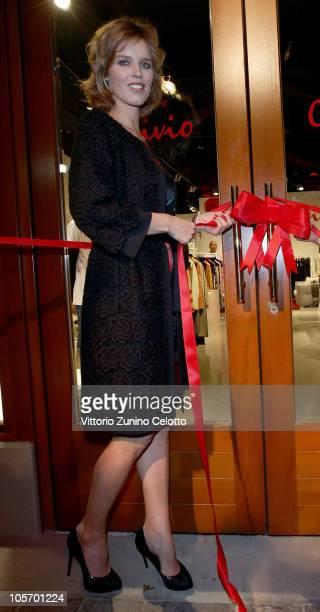 Eva Herzigova attends the Convivio Boutique Opening on October 19 2010 in Fidenza Italy