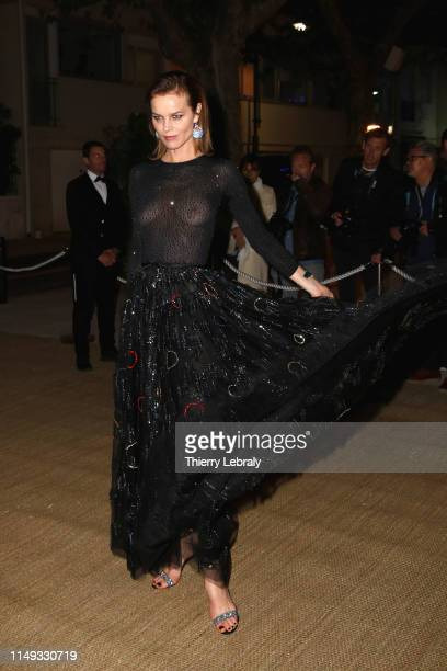 Eva Herzigova attends the Dior And Vogue Paris dinner at Fred L'Ecailler during the 72nd annual Cannes Film Festival on May 15 2019 in Cannes France