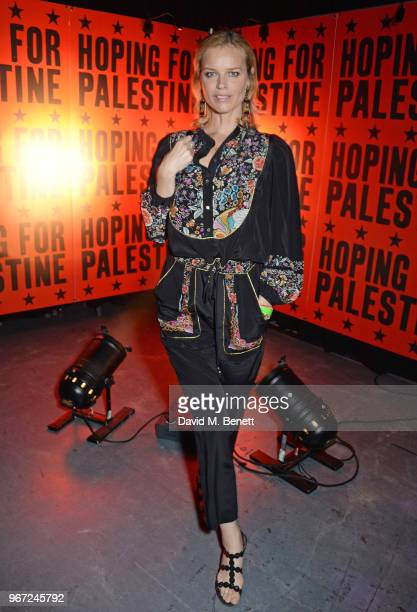 Eva Herzigova attends the Hoping For Palestine benefit concert for Palestinian refugee children at The Roundhouse on June 4 2018 in London England
