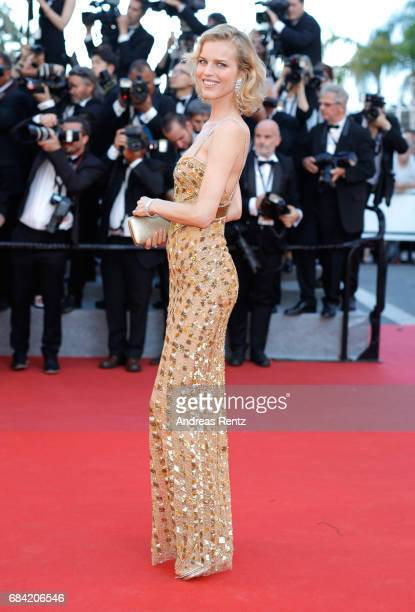 Eva Herzigova attends the Ismael's Ghosts screening and Opening Gala during the 70th annual Cannes Film Festival at Palais des Festivals on May 17...