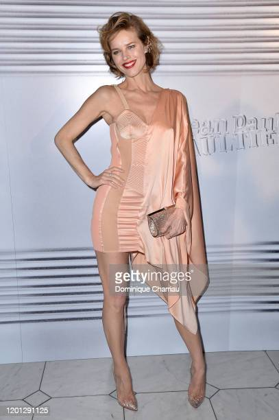 Eva Herzigova attends the JeanPaul Gaultier Haute Couture Spring/Summer 2020 show as part of Paris Fashion Week at Theatre Du Chatelet on January 22...