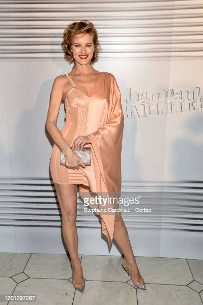Eva Herzigova attends the Jean-Paul Gaultier Haute Couture Spring/Summer 2020 show as part of Paris Fashion Week at Theatre Du Chatelet on January...