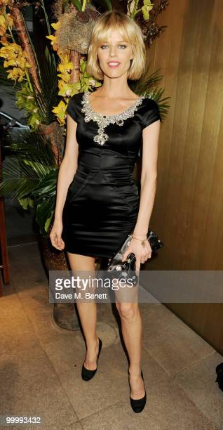 Eva Herzigova attends the launch party for the opening of TopShop's Knightsbridge store at Zuma on May 19, 2010 in London, England.