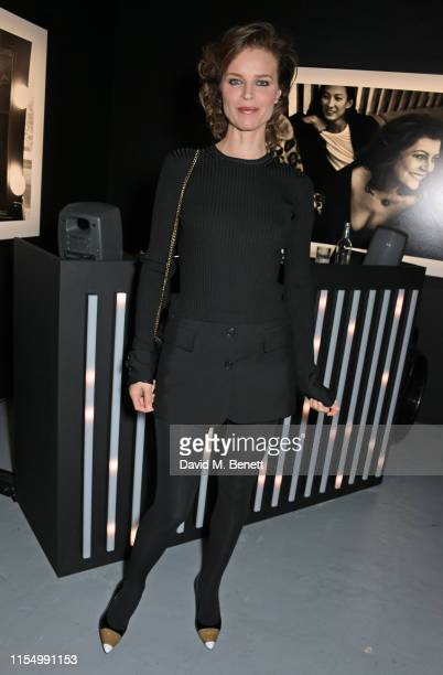 Eva Herzigova attends the Lenny Kravitz & Dom Perignon 'Assemblage' exhibition, the launch Of Lenny Kravitz' UK Photography Exhibition, on July 10,...