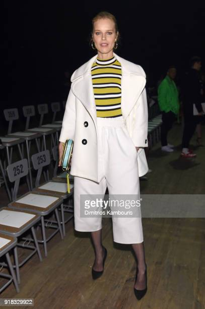 Eva Herzigova attends the Marc Jacobs Fall 2018 Show at Park Avenue Armory on February 14 2018 in New York City