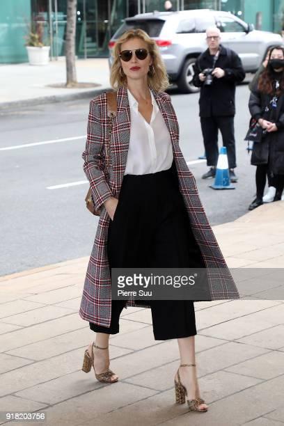 Eva Herzigova attends the Michael Kors Show during the New Yorl Fashion Week 2018 on February 14 2018 in New York City