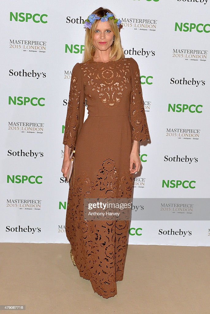 Eva Herzigova attends the NSPCC Neo-Romantic Art Gala at Masterpiece London on June 30, 2015 in London, England.