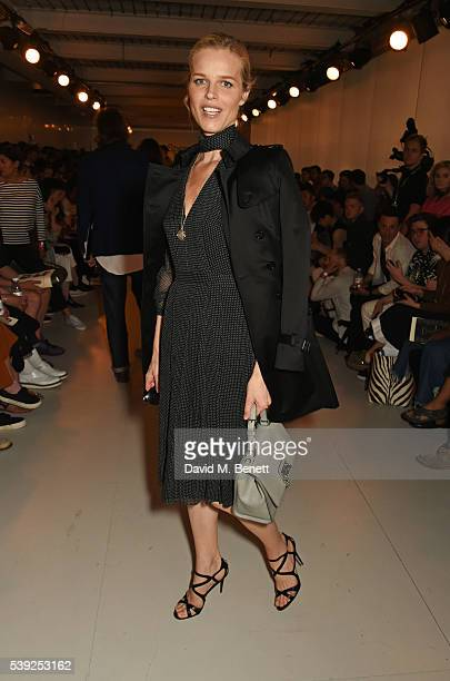 Eva Herzigova attends the Oliver Spencer show during The London Collections Men SS17 at the BFC Show Space on June 10, 2016 in London, England.