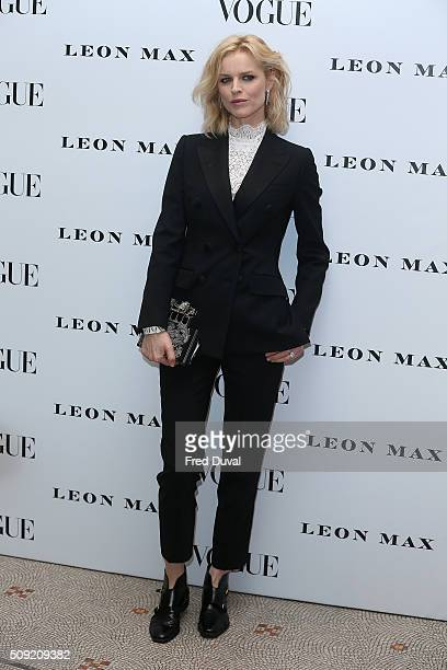 Eva Herzigova attends the opening of Vogue100 : A century of Style at National Portrait Gallery on February 9, 2016 in London, England.