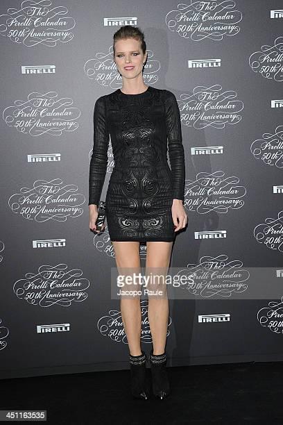 Eva Herzigova attends The Pirelli Calendar 50th Anniversary Red Carpet on November 21 2013 in Milan Italy
