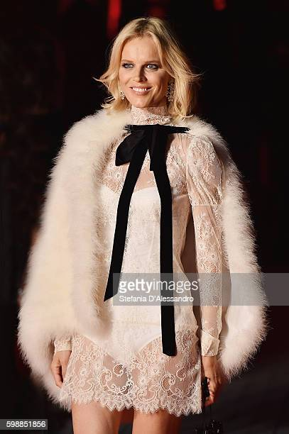 Eva Herzigova attends the premiere of 'Franca: Chaos And Creation' during the 73rd Venice Film Festival at Sala Giardino on September 2, 2016 in...