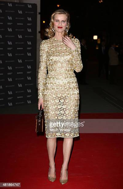 Eva Herzigova attends the preview of The Glamour of Italian Fashion exhibition at Victoria & Albert Museum on April 1, 2014 in London, England.