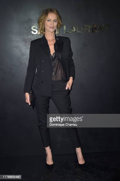 Eva Herzigova attends the Saint Laurent Womenswear Spring/Summer 2020 show as part of Paris Fashion Week on September 24 2019 in Paris France