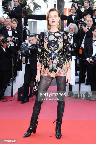 Eva Herzigova attends the screening of Rocketman during the 72nd annual Cannes Film Festival on May 16 2019 in Cannes France
