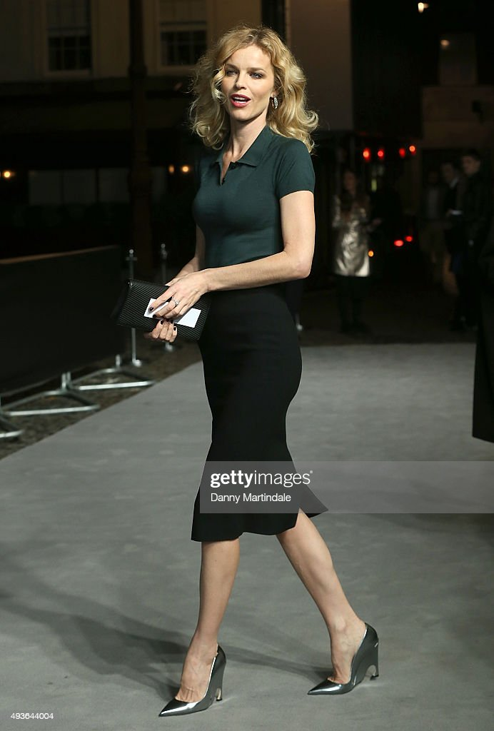 Eva Herzigova attends the VIP Premiere of 'A Bigger Splash' hosted by AnOther magazine and Dior at The Curzon Mayfair on October 21, 2015 in London, England.