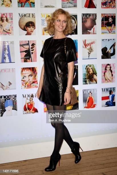 Eva Herzigova attends The Vogue Festival 2012 cocktail party in association with VERTU at Royal Geographical Society on April 20, 2012 in London,...
