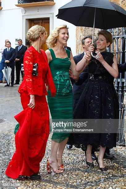 Eva Herzigova attends the wedding of Lady Charlotte and Alejandro Santo Domingo's wedding on May 28, 2016 in Granada, Spain.