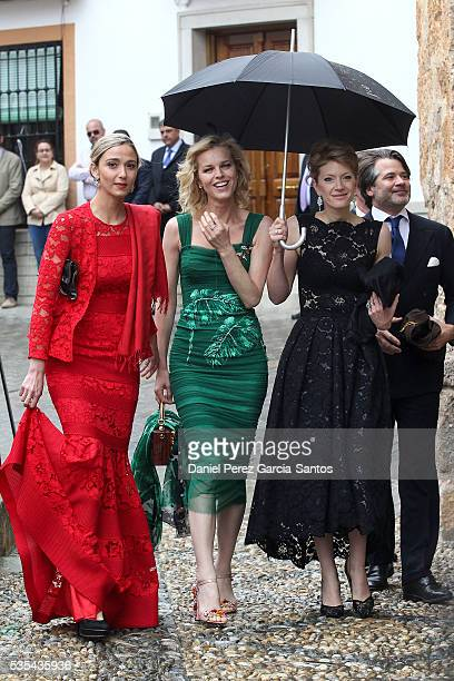 Eva Herzigova attends the wedding of Lady Charlotte Wellesley and Alejandro Santo Domingo at Illora on May 28, 2016 in Granada, Spain.