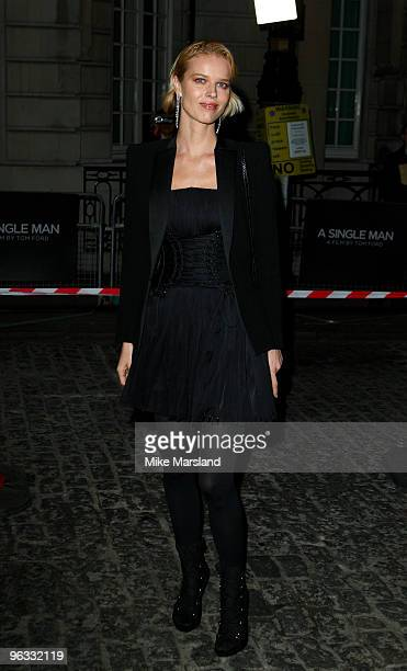 Eva Herzigova attends UK Film Premiere of 'A Single Man' at The Curzon Mayfair on February 1, 2010 in London, England.