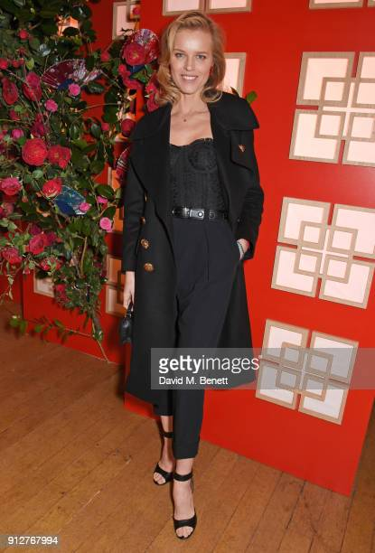 Eva Herzigova attends Wendy Yu's Chinese New Year Celebration at Kensington Palace on January 31 2018 in London United Kingdom