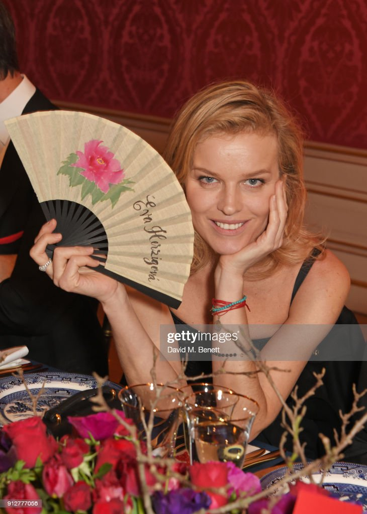 Eva Herzigova attends Wendy Yu's Chinese New Year Celebration at Kensington Palace on January 31, 2018 in London, United Kingdom.