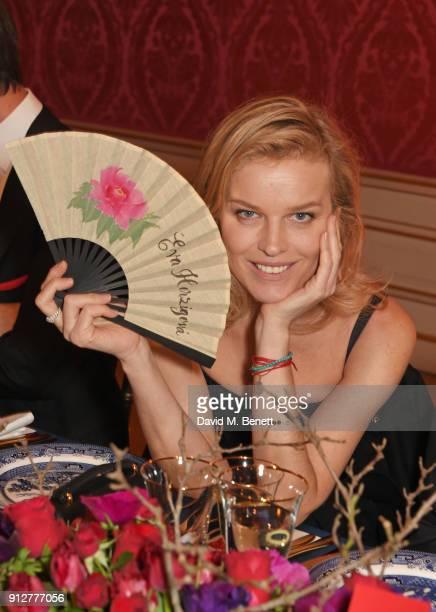 Eva Herzigova attends Wendy Yu's Chinese New Year Celebration at Kensington Palace on January 31 2018 in London United Kingdom