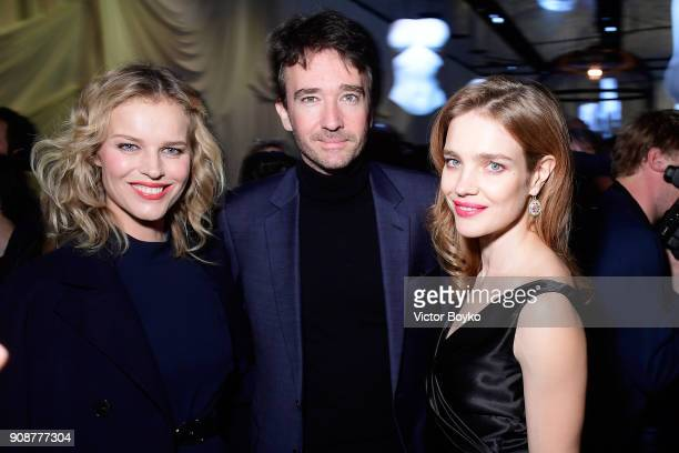 Eva Herzigova Bernard Arnault and Natalia Vodianova attend the Christian Dior Haute Couture Spring Summer 2018 show as part of Paris Fashion Week on...