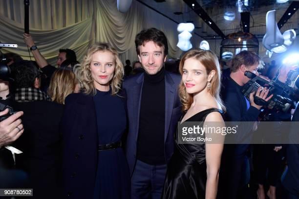 Eva Herzigova Bernard Arnault and Natalia Vodianova attend the Christian Dior Haute Couture Spring Summer 2018 show as part of Paris Fashion Week on...