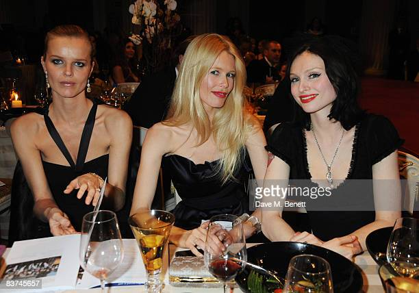Eva Herzigova Claudia Schiffer and Sophie EllisBextor attend the Chaos Point Gala Dinner where Vivienne Westwood will present her Gold Label...