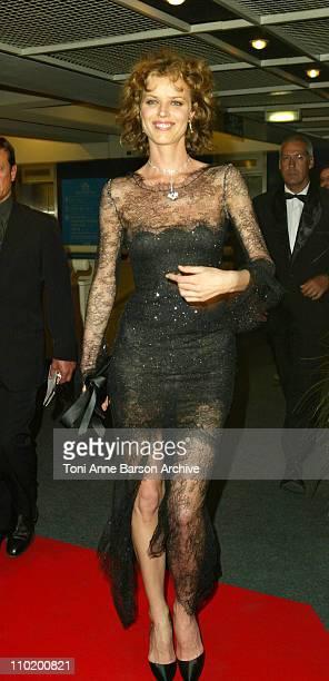 "Eva Herzigova during 2004 Cannes Film Festival - ""Modigliani"" - Premiere at Palais Du Festival in Cannes, France."