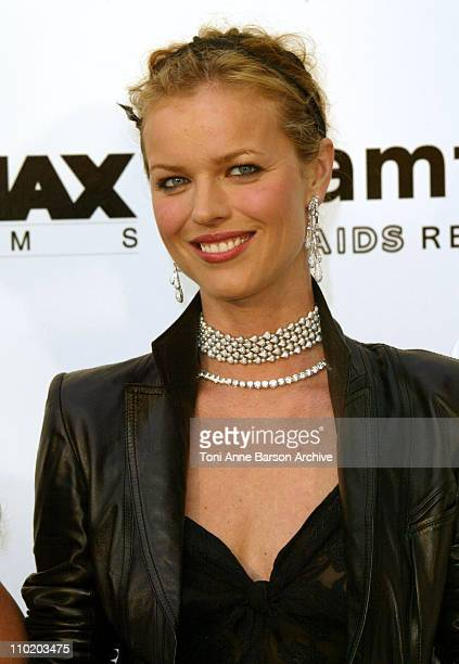 """Eva Herzigova during amfAR's """"Cinema Against AIDS Cannes"""" Benefit Sponsored by Miramax and Quintessentially - Arrivals at Moulin De Mougins in..."""