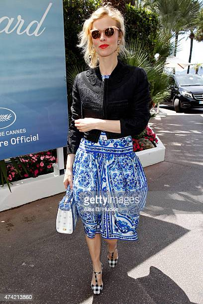 Eva Herzigova is seen at the Martinez Hotel during the 68th Annual Cannes Film Festival on May 21 2015 in Nice France