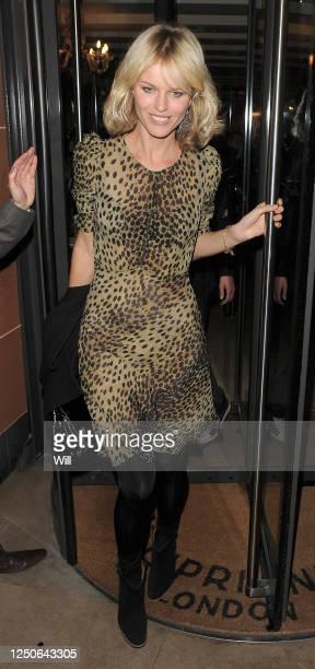 Eva Herzigova leaves Cipriani restaurant on October 14, 2009 in London, England.