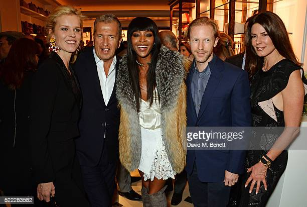 Eva Herzigova Mario Testino Naomi Campbell Jan Olesen and Christina Estrada attend an event hosted by Naomi Campbell Burberry and TASCHEN to...