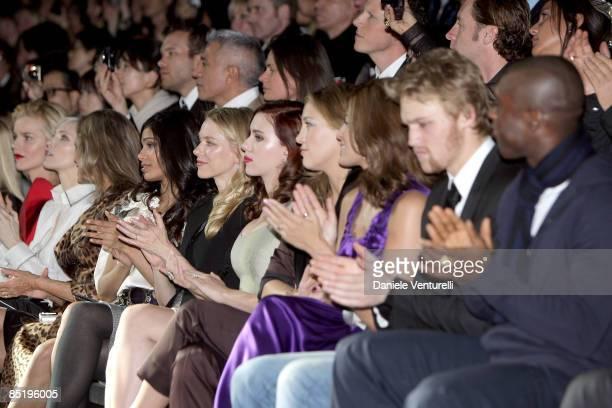 Eva Herzigova Nadja Auermann Lauren Hutton Freida Pinto Naomi Watts Scarlett Johansson Kate Hudson Eva Mendes and Wyatt Russell attend the Dolce...