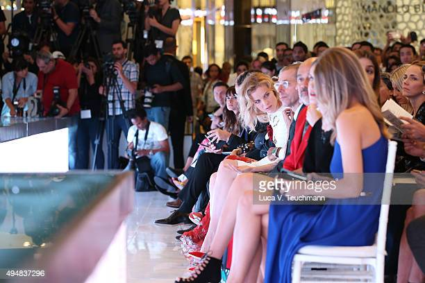 Eva Herzigova Nasser Rafi Editorin Chief of Vogue Italia Franca Sozzani and Chief Executive Officer and Chairman of Conde Nast International Jonathan...