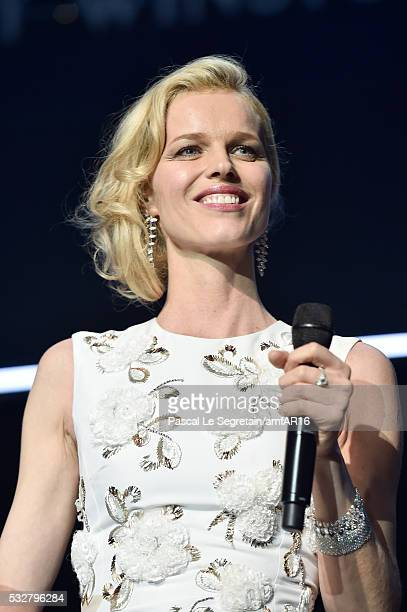 Eva Herzigova on the stage at the amfAR's 23rd Cinema Against AIDS Gala at Hotel du CapEdenRoc on May 19 2016 in Cap d'Antibes France