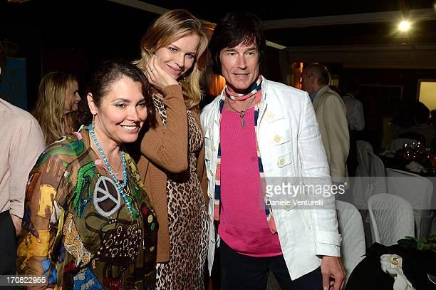 Eva Herzigova Ronn Moss and Devin DeVasquez attend 'Cha Cha Cha' Telethon Gala Dinner as part of Taormina Filmfest 2013 on June 18 2013 in Taormina...