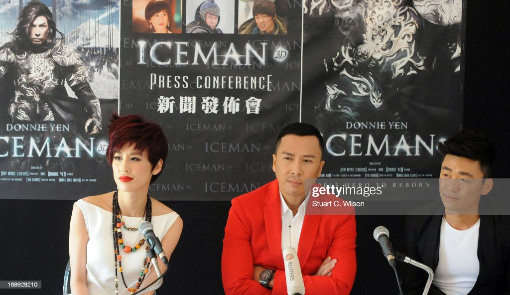 Eva Huang, Donnie Yen and Wang Boaqiang attend the 'Iceman Cometh 3D' Photocall and Press conference at the 66th Annual Cannes Film Festival on May 17, 2013 in Cannes, France.