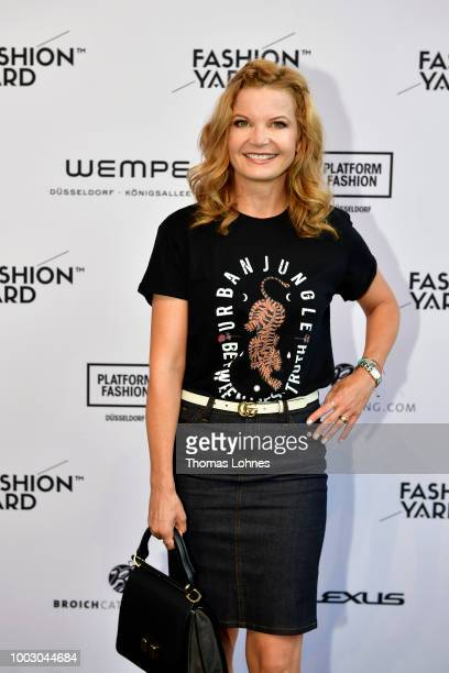 Eva Imhof attends the Fashionyard show during Platform Fashion July 2018 at Areal Boehler on July 21 2018 in Duesseldorf Germany
