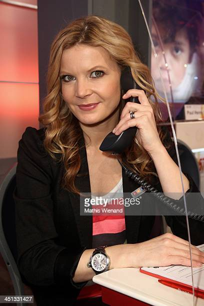 Eva Imhof attends the RTL Telethon 2013 on November 22 2013 in Cologne Germany