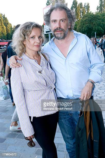 Eva Ionesco and her fiance Simon Liberati attend 'Tip Top' Paris movie premiere at Mk2 Quai de Seine on September 5 2013 in Paris France