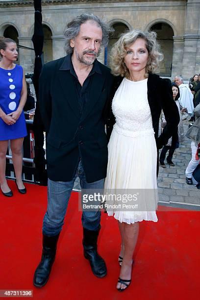 Eva Ionesco and her husband Journalist Simon Liberati attend 'La Traviata' Opera en Plein Air produced by Benjamin Patou 'Moma Group' Held at Hotel...