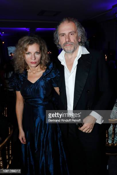 Eva Ionesco and her husband Simon Liberati attend the Annual Charity Dinner hosted by the AEM Association Children of the World for Rwanda at...