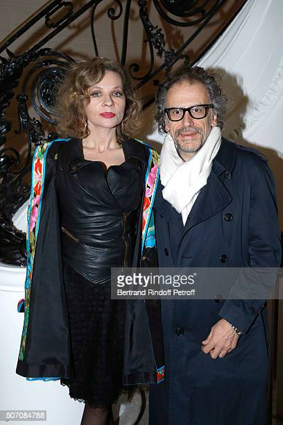 Eva Ionesco and her husband Simon Liberati attend the Jean Paul Gaultier Spring Summer 2016 show as part of Paris Fashion Week on January 27 2016 in...