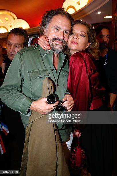 Eva Ionesco and her husband Simon Liberati attend the last Jean Paul Gaultier Womenswear show as part of the Paris Fashion Week Womenswear...
