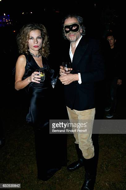 Eva Ionesco and Simon Liberati attend the Christian Dior Haute Couture Spring Summer 2017 Bal Masque as part of Paris Fashion Week on January 23 2017...