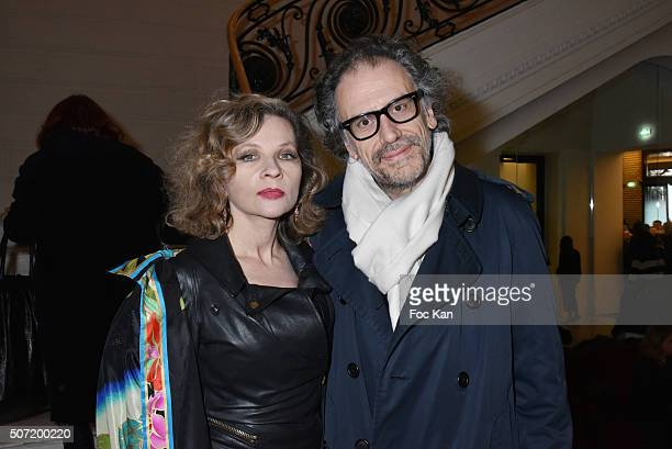 Eva Ionesco and Simon Liberati attend the Jean Paul Gaultier Spring Summer 2016 show as part of Paris Fashion Week on January 27 2016 in Paris France